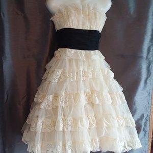 Betsey Johnson Collection Layered Lace Dress